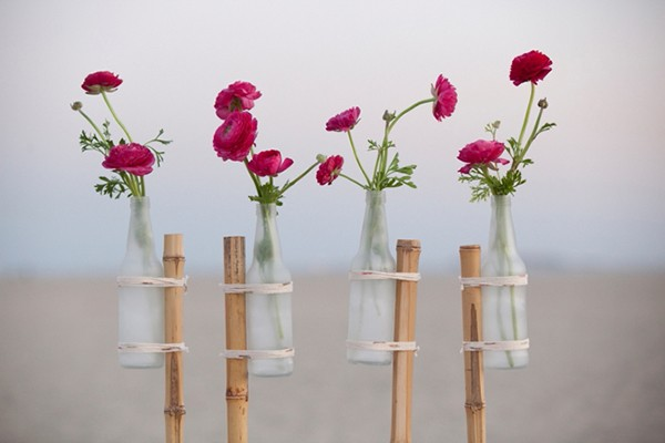 DIY Frosted Glass Flower Stakes!