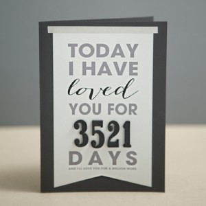 "DIY ""Today I Have Loved You For..."" card"