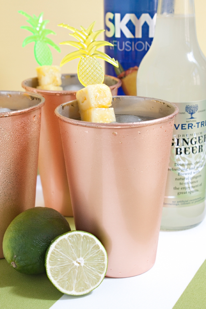 Signature cocktail recipe the simple pineapple mule for Simple alcoholic drink recipes