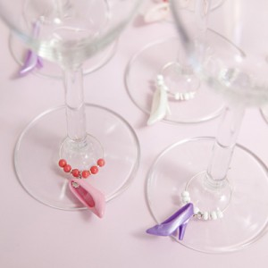 DIY Barbie Shoe Wine Charms