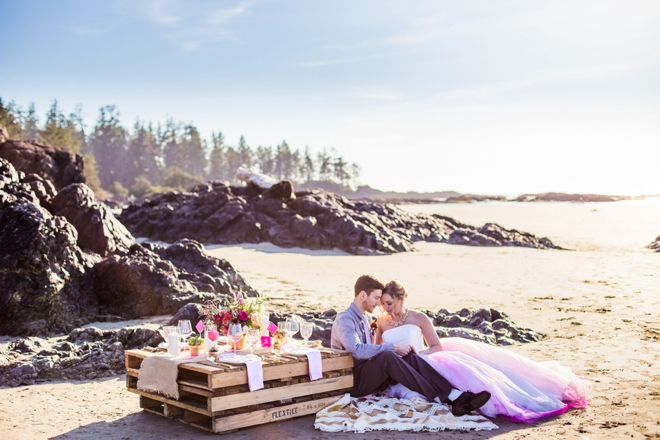 Bright Romantic Beach Wedding Inspiration