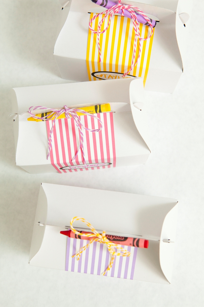 DIY Kids Wedding Favor Box with free coloring sheets