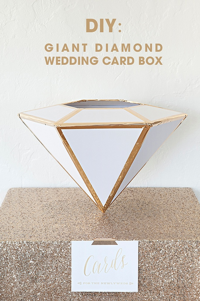 Wording For Wedding Gift Card Box : DIY, Giant Diamond Card Box For Weddings!