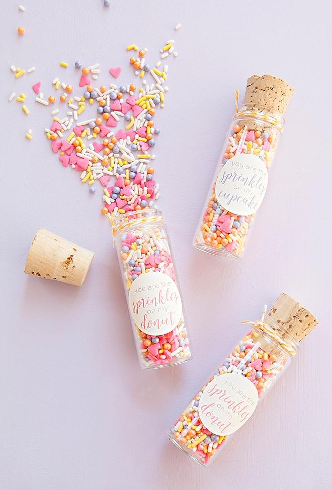 DIY custom sprinkle mix favors!