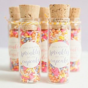 DIY custom sprinkle mix favors!