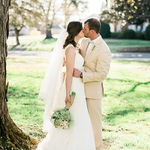 Beautiful, backyard faith based wedding