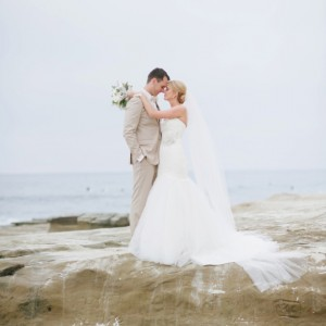 Gorgeous beach wedding portraits in La Jolla, CA.