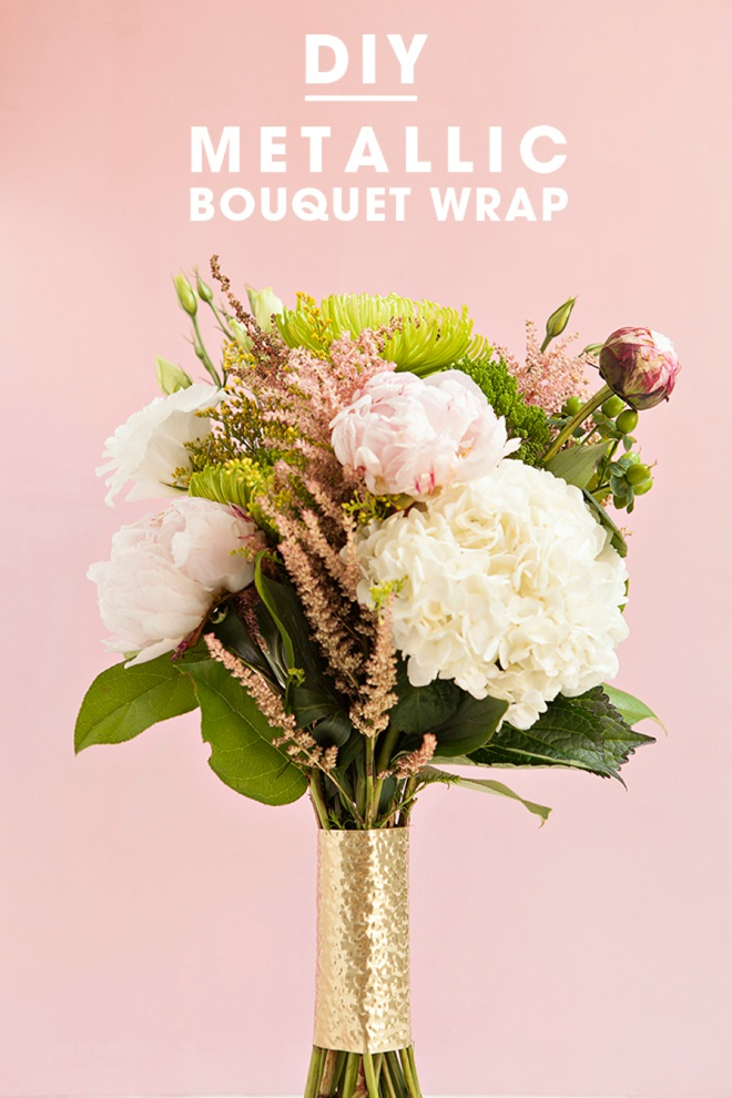 Check Out These Awesome Metallic Wedding Bouquet Wraps