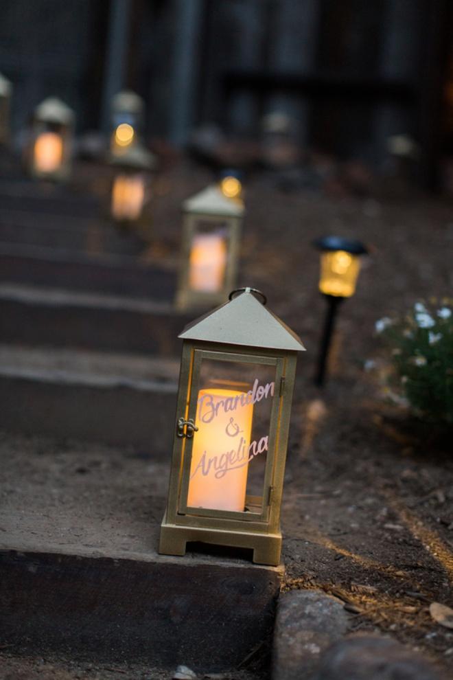 Beautiful custom wedding lanterns