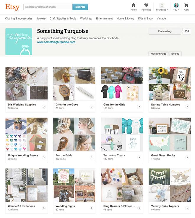 Something Turquoise Etsy Tastemaker Page