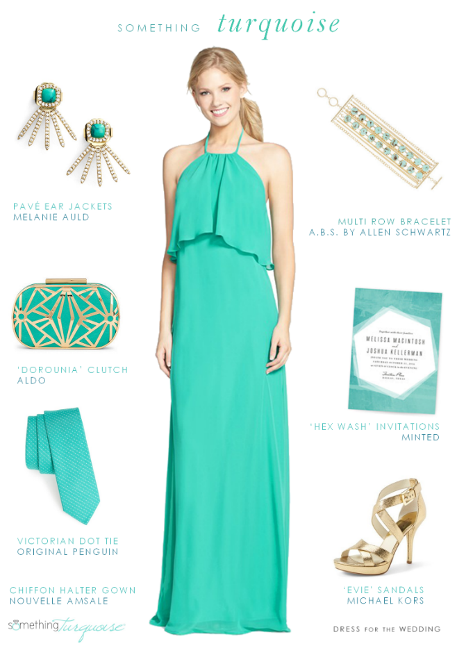 Turquoise Dress for a Wedding