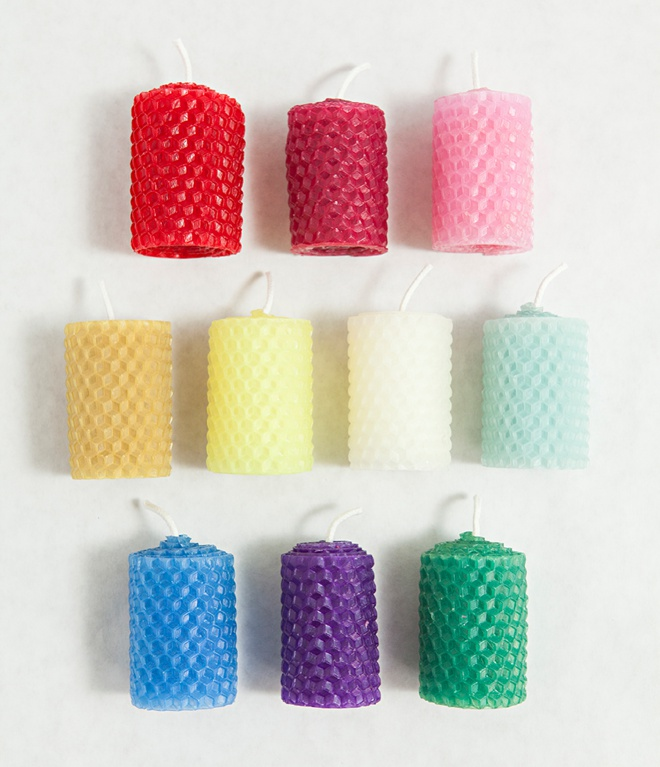 How to make rolled beeswax votives!