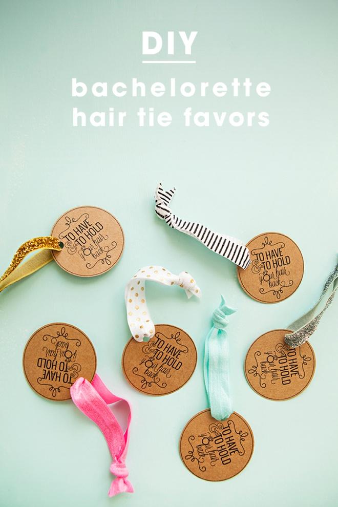 DIY - Bachelorette Party Hair Tie Favors!