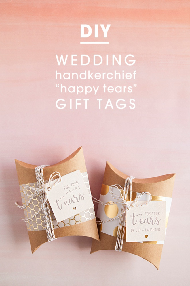 Wedding Gift Tags Diy : How adorable are these custom wedding handkerchiefs from Larkspur ...