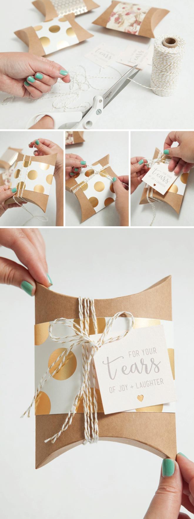 DIY IdeaWedding Handkerchief
