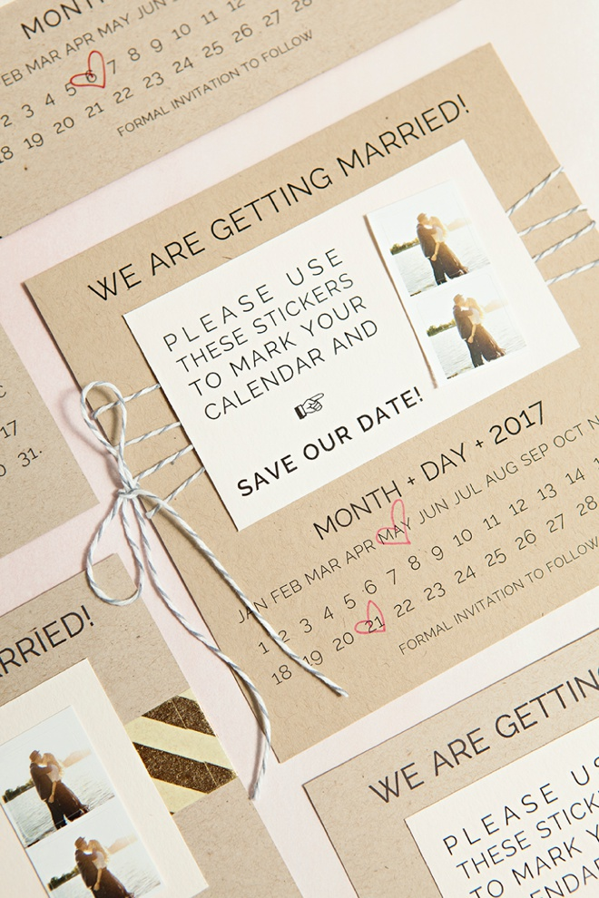 Diy Calendar Save The Date : Learn how to diy save the dates with calendar stickers