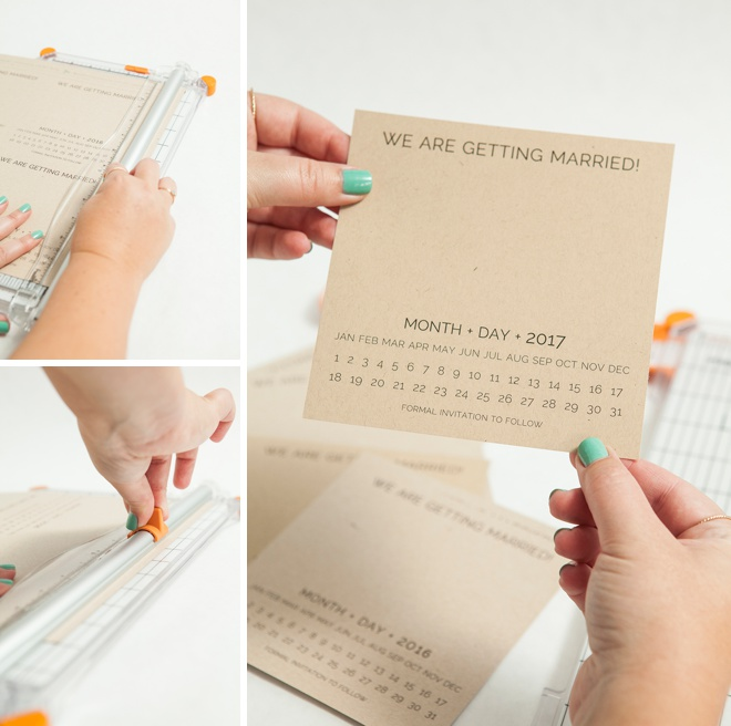 how to make calendar save the date cards