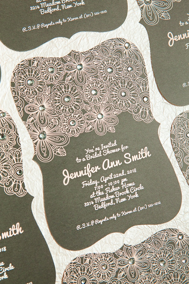 easily embellished wedding invitations with basic invite With wedding invitation embellishments diy