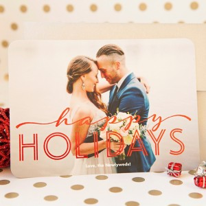 Easily create and send newlywed holiday cards with Shutterfly!