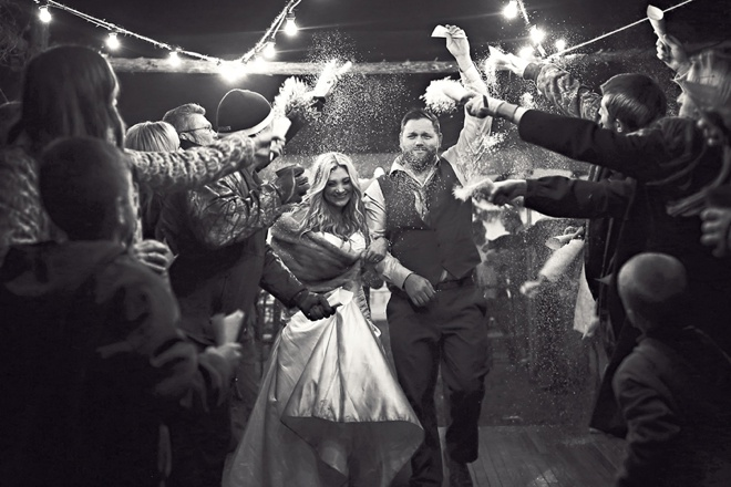 Cozy, winter wedding with awesome handmade details!