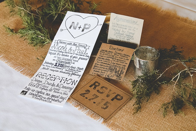 Gorgeous DIY wedding stationary by the bride!