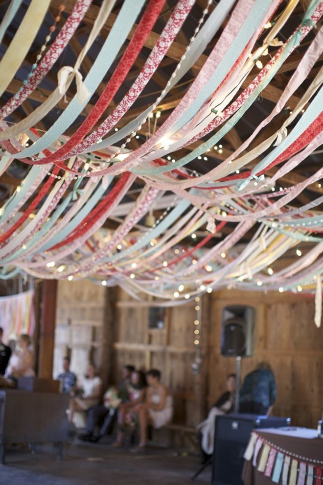 String lights along with ribbon for a shot of color and light!