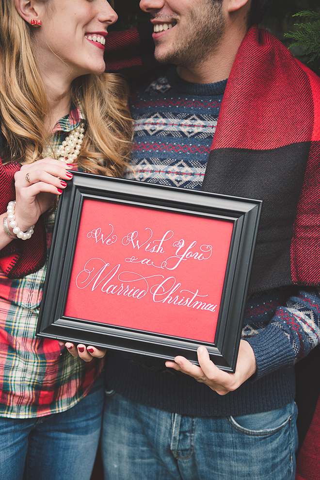 We wish you a Married Christmas!