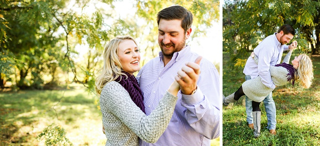 We love this darling dancing engagement session!