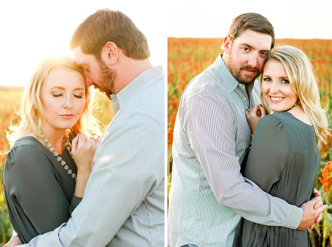 We love this darling engagement session in a field!