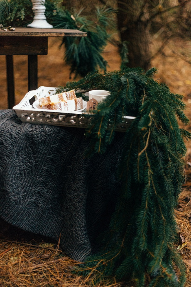 Gorgeous cozy holiday forest shoot!