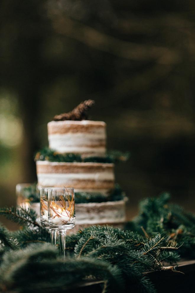Adorable rustic wedding cake!