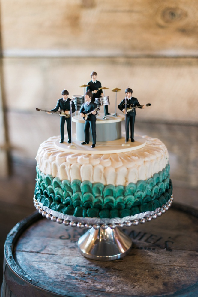 Fun Beatles groom cake idea.