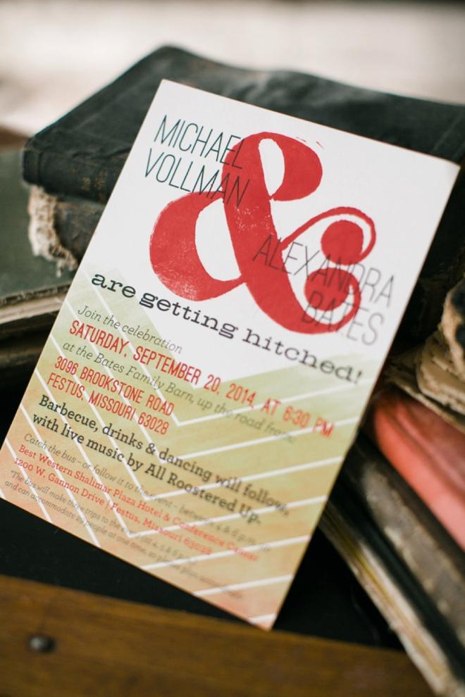 Awesome handmade wedding invitations.