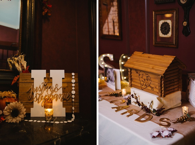 Such darling details at this DIY winter wedding!