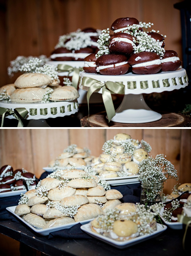 Loving this couple's dessert bar at their wedding!