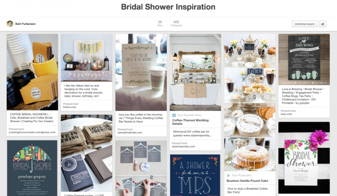 Bridal Shower Inspiration saved on Pinterest!