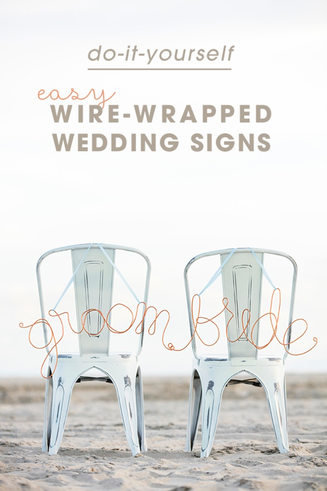 Super easy tutorial on wrapping your own wire signs!