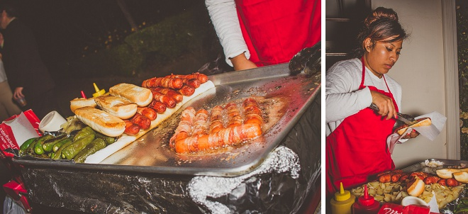 We're loving this fun, vintage carnival style wedding and delicious food!