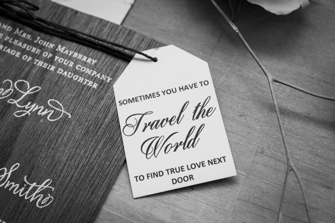 Swooning over these gorgeous wooden invitations!