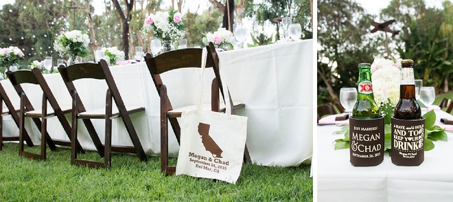 Love these sweet wedding bags for their guests!