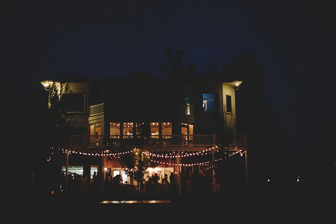 Twinkle lights at weddings are the best!