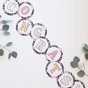 Awesome, DIY floral alphabet banner... you pick the letters!