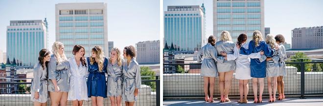 How fun is this modern skyline bridesmaid shot? Love!