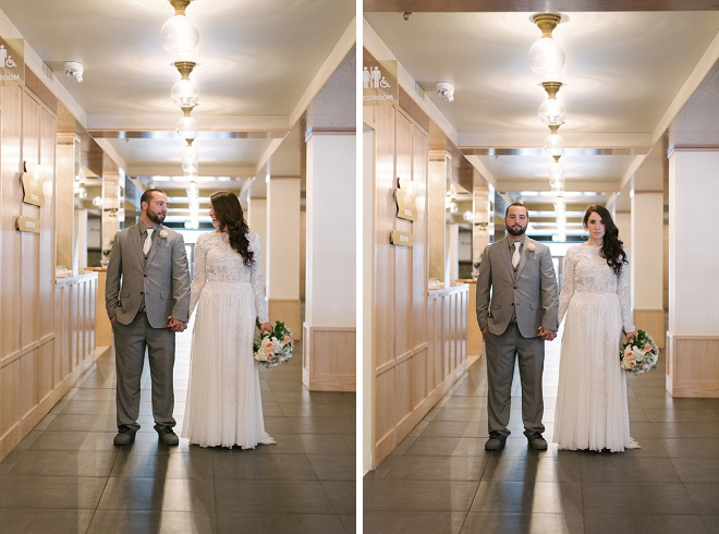We're swooning over this gorgeous bride and groom and their modern DIY wedding!