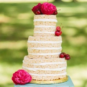 Rice Krispy Wedding Cake
