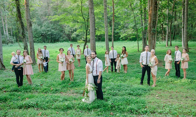 Estamos amando esta divertida festa de casamento shot!