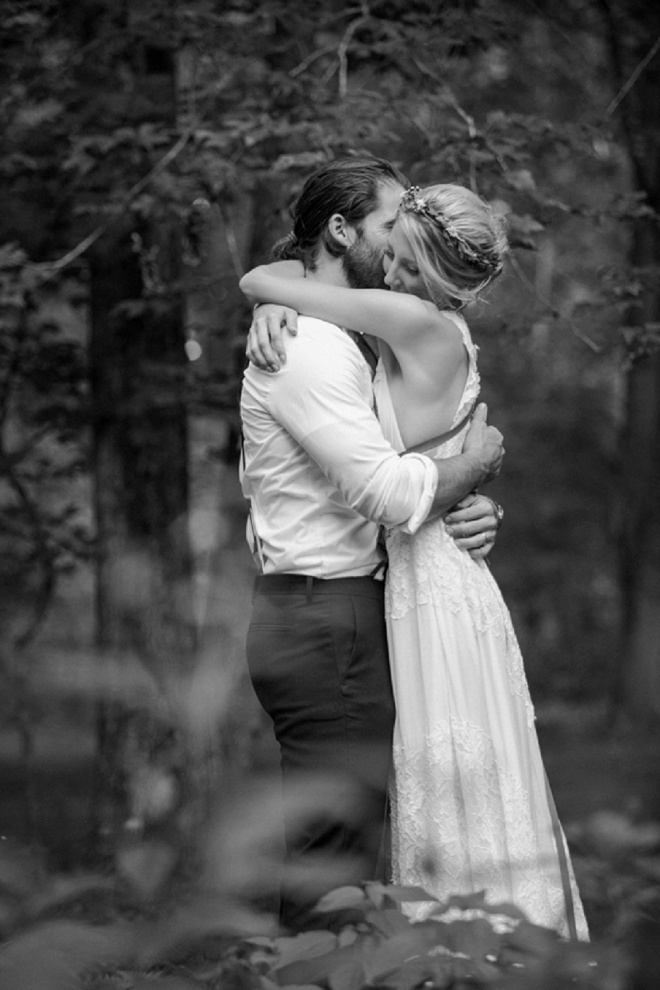 We're swooning over this boho backyard wedding!
