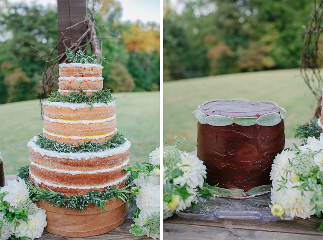 We love this gorgeous naked wedding cake! Swoon!