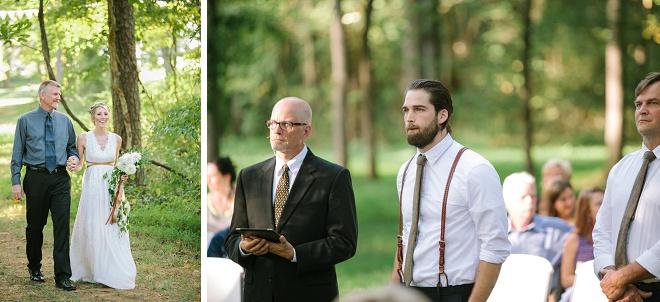 We're loving this darling backyard wedding ceremony!