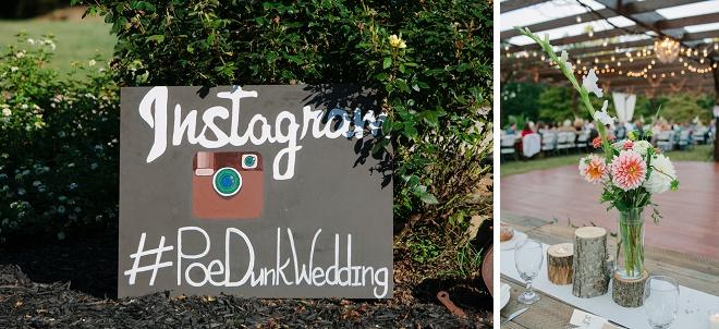 Como o divertimento é este sinal de casamento Instagram pintado à mão? Ame!